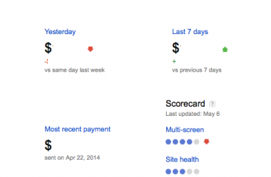 New Google Adsense Screen