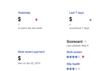 New Google Adsense Screen