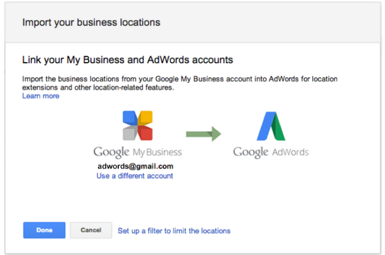 Google-adwords-account level location extenshions