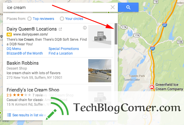 google-maps-search-scroll-bar--before-peigeion-update-techblogcorner-1