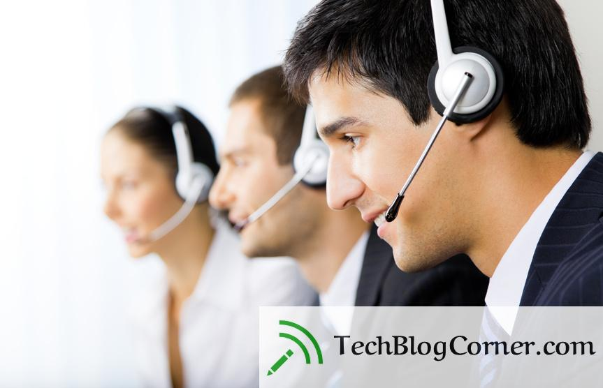 Three support phone operators at workplace-techblogcorner