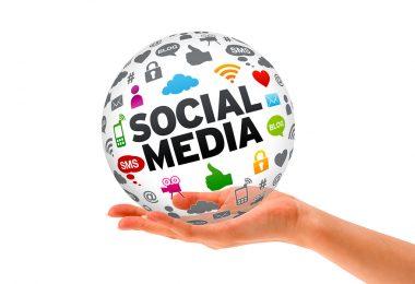Hand holding a Social Media 3d Sphere-techblogcorner