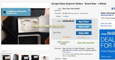 TechBlogcorner-GoogleGlassonebay