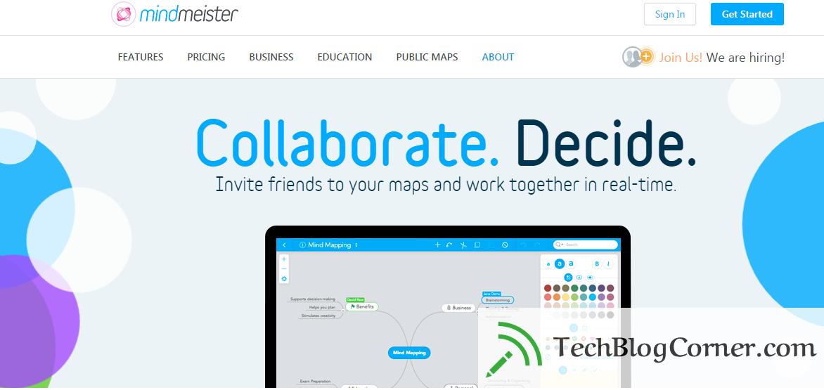 Mindmister-team-managment-tool-techblogcorner
