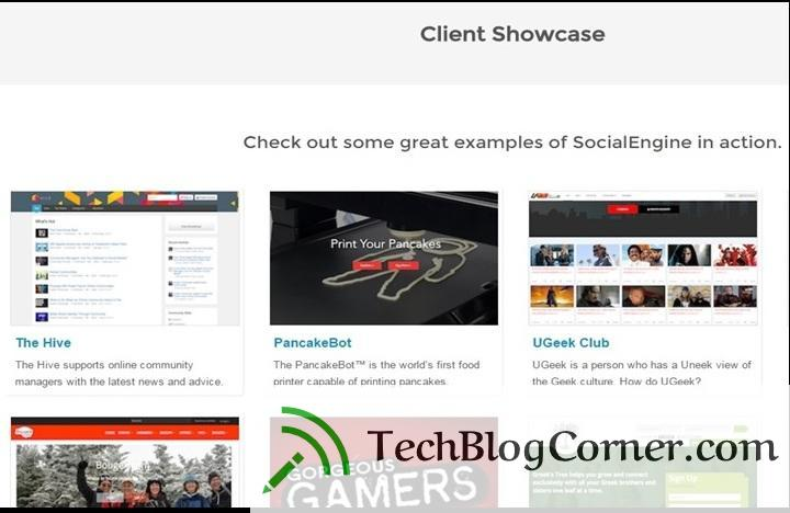You can show your clients in social engine