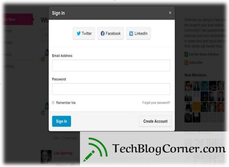 Social engine UI