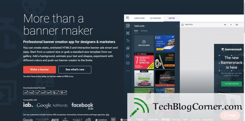 Review Free Online Banner Maker Tool TechBlogCorner