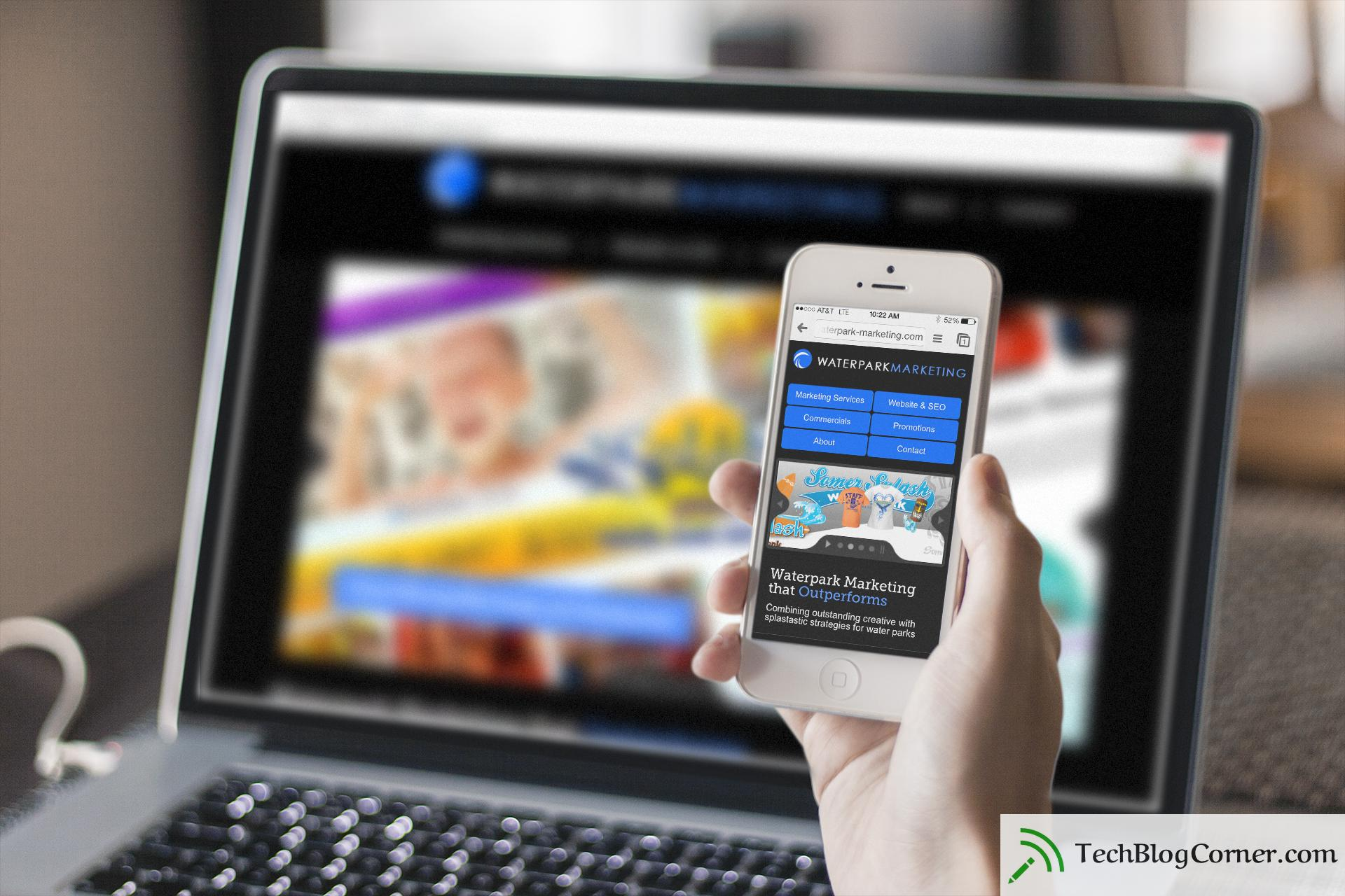 Which site is the best mobile or traditional responsive? A picture of a phone and desktop site.