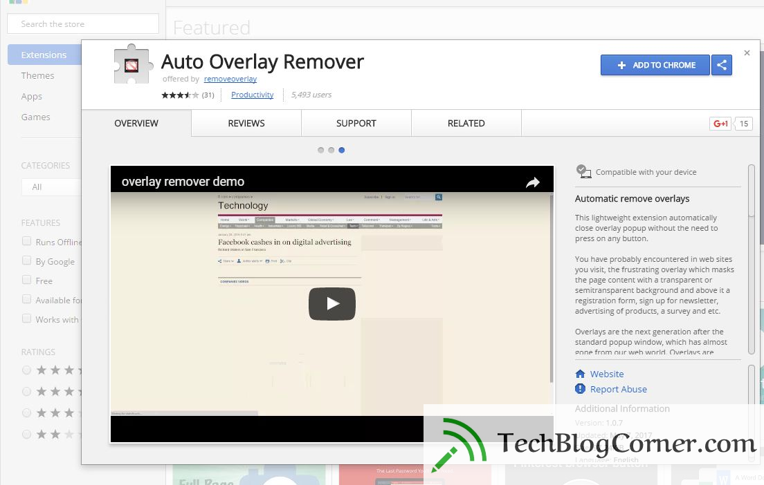 auto overlay remover - techblogcorner