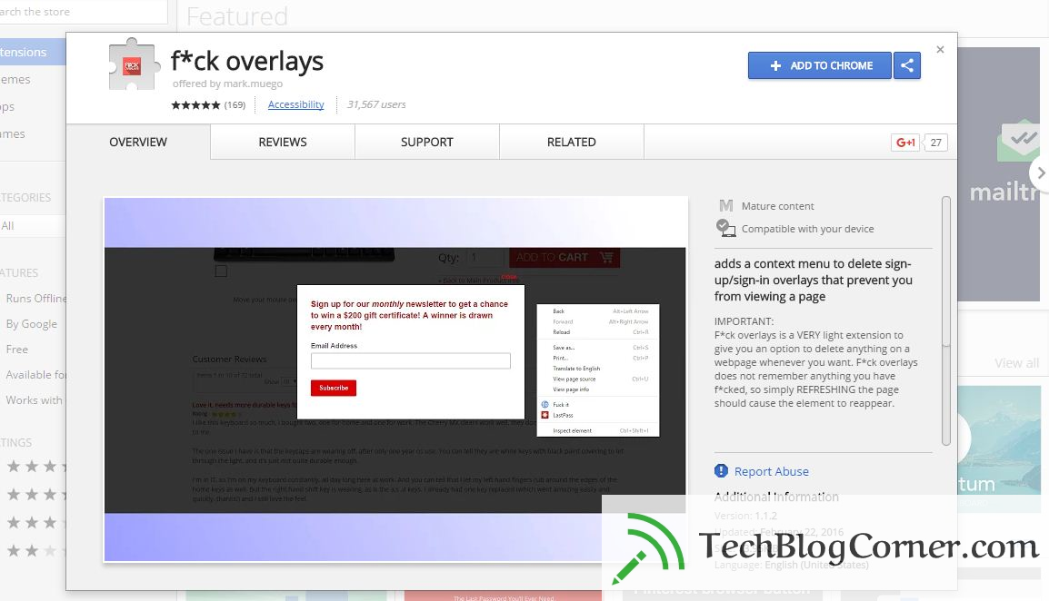 fuck overlay - techblogcorner