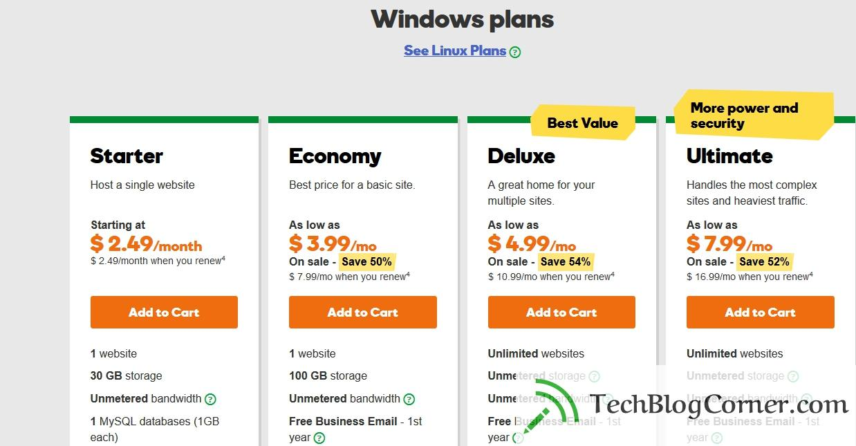 godaddy-hosting-plans-techblogcorner