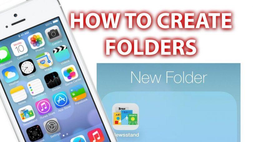 make folders on iphone- techblogcorner