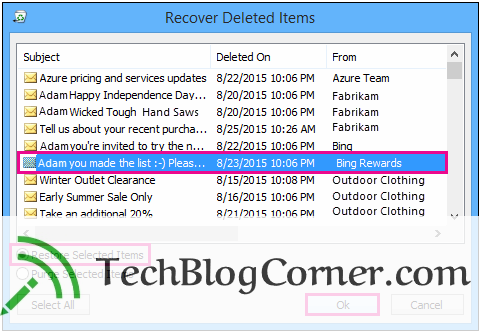 How to Recover Deleted Emails in Outlook 2016, 2013, 2010 & 2007 5