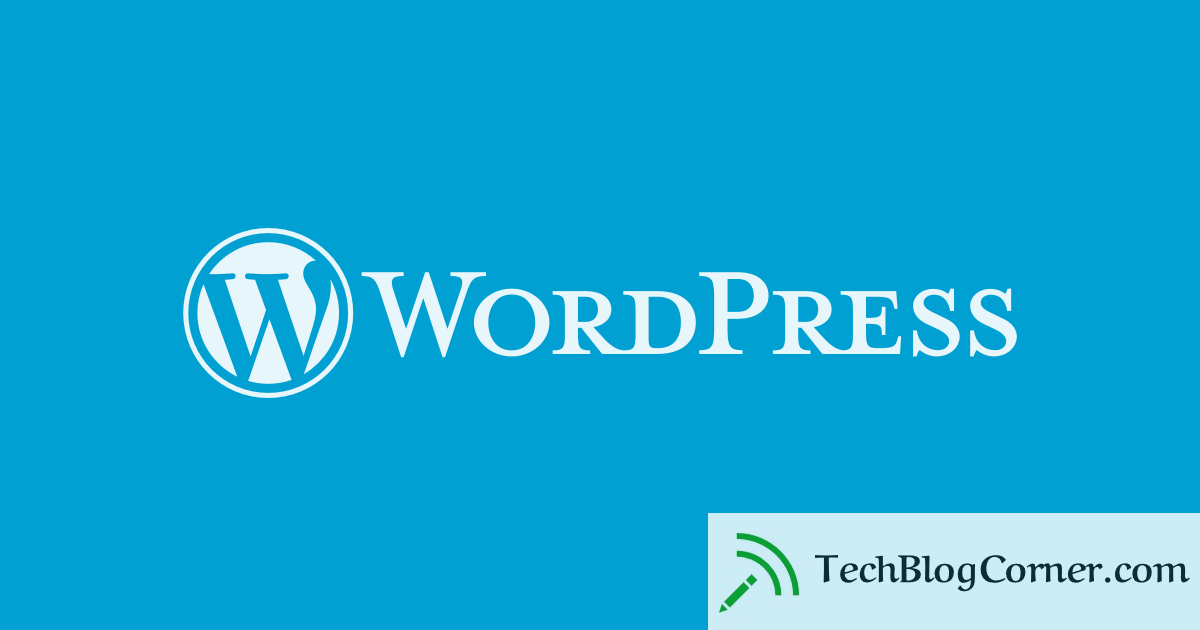 wordpress - techblogcorner