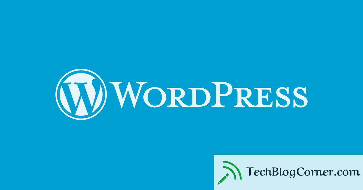 wordpress - techblogcorner