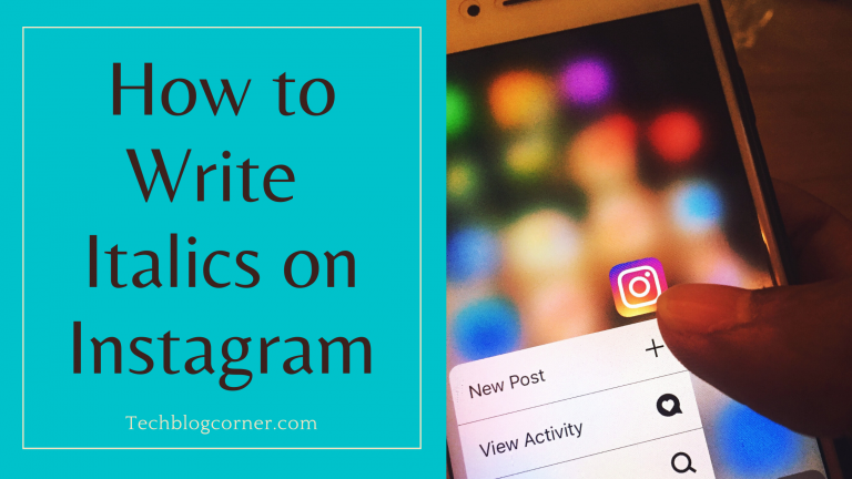 How to Write italics on instagram
