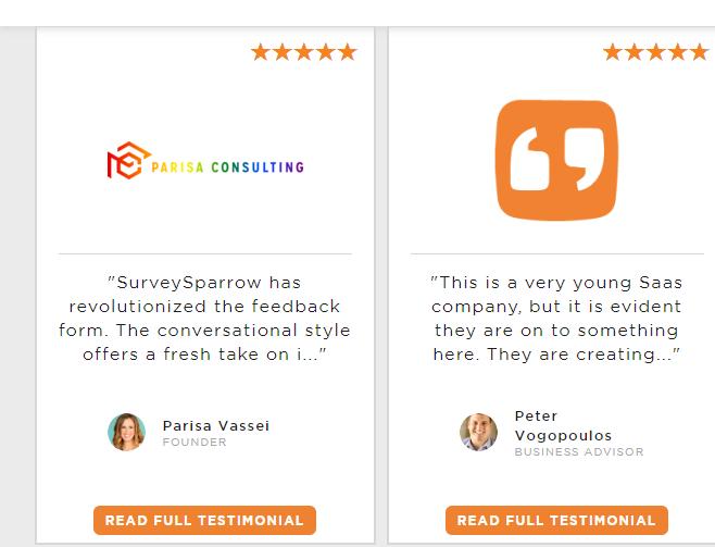 SurveySparrow Customer Testimonial