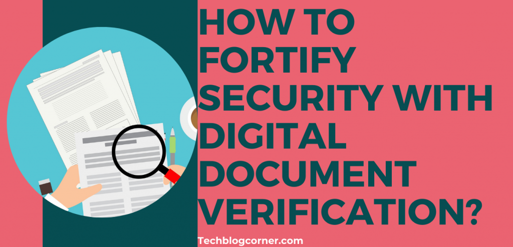 How does digital document verification work