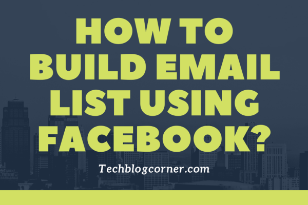 email list using facebook