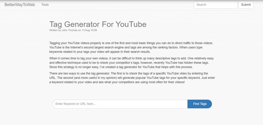 10 Best YouTube Tag Generators in 2021 4