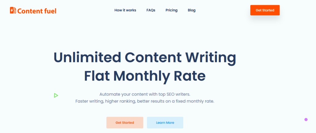 Content Fuel Review - Automate Your Content With Top SEO Writers 1