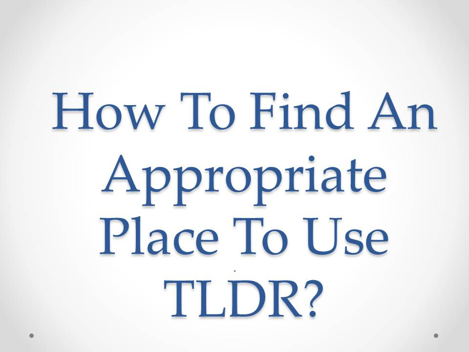 """What Does """"TLDR"""" Mean, and How Do You Use It? 2"""